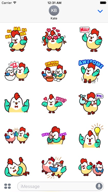 Cute Roosters Stickers