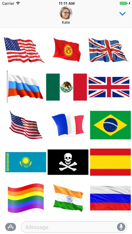 Flags of the World Sticker Pack