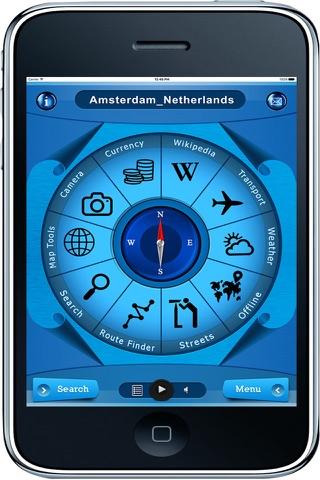 Amsterdam Netherlands - Offline Maps Navigator - náhled