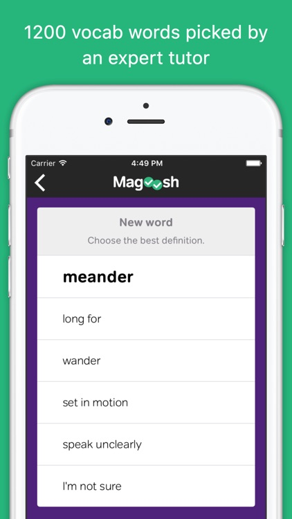 Vocabulary Builder from Magoosh