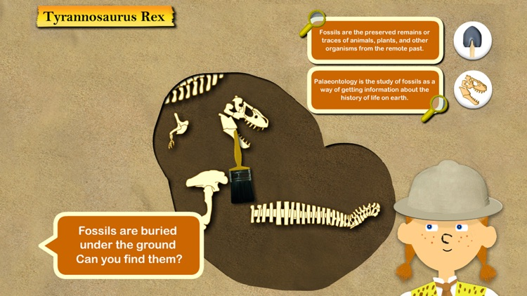 Dinosaur Fossils - History for kids screenshot-1