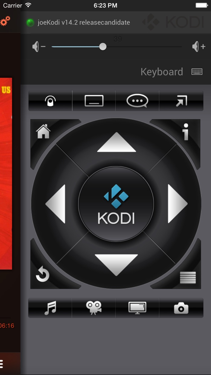 Official Kodi Remote Screenshot