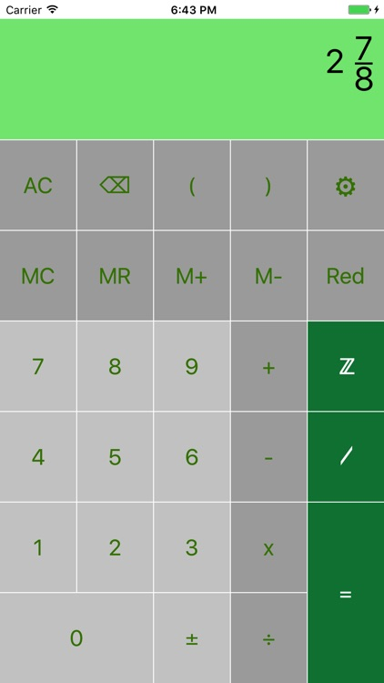 FraCa (fraction calculator) by Thomas Burow