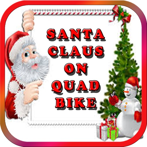 Santa Claus in North Pole on Quad bike Simulator
