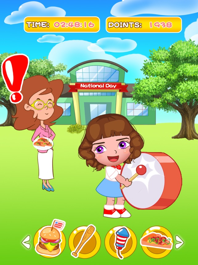 Bellas holiday slacking game, game for IOS