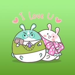 Smith The Happy Bunny Family Stickers