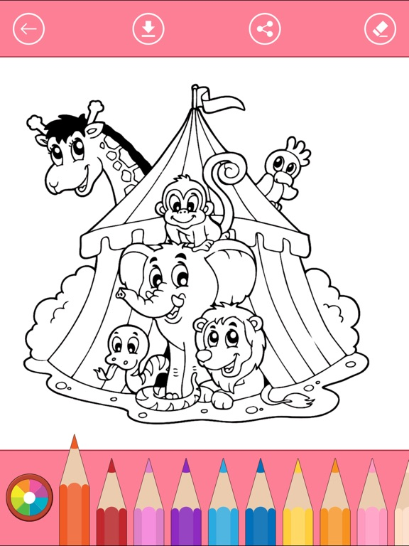 Circus Coloring Book for Children: Learn to color | App Price Drops