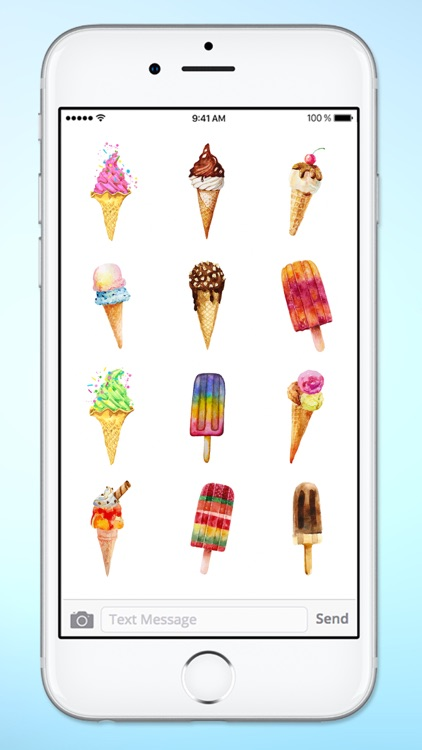 Watercolor Ice Cream Sticker Pack screenshot-2
