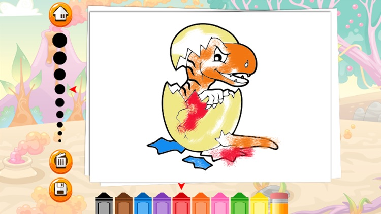 Dinosaur Coloring Page For Kids Education Game screenshot-3