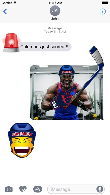 Columbus Hockey Stickers & Emojis