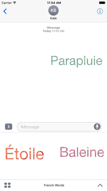 Beautiful French Words Stickers For iMessage