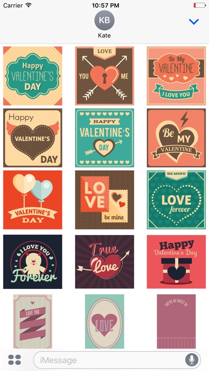 Animated Retro Valentine's Day Stickers