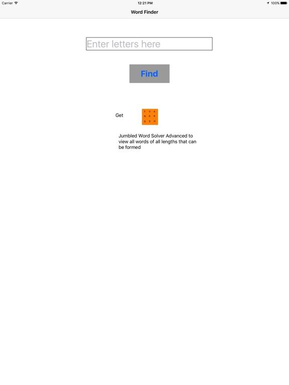 Jumbled Word Solver App Price Drops