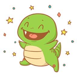 Cheerful Dino Stickers