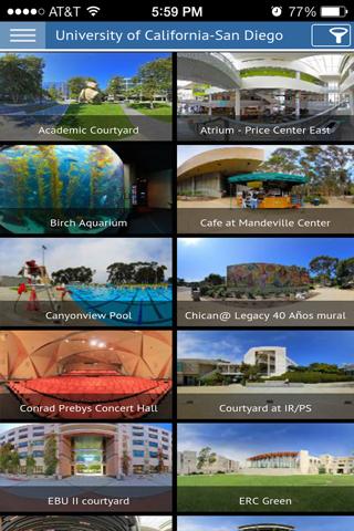 UC San Diego Virtual Tour - náhled