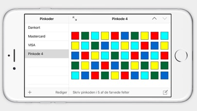Pincodes - Remember your pincode iPhone