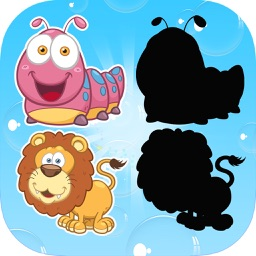 Animals Shadow Puzzle Game - Learn Shape For Kids