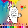 Coloring Page Game Kids For Fruit Version