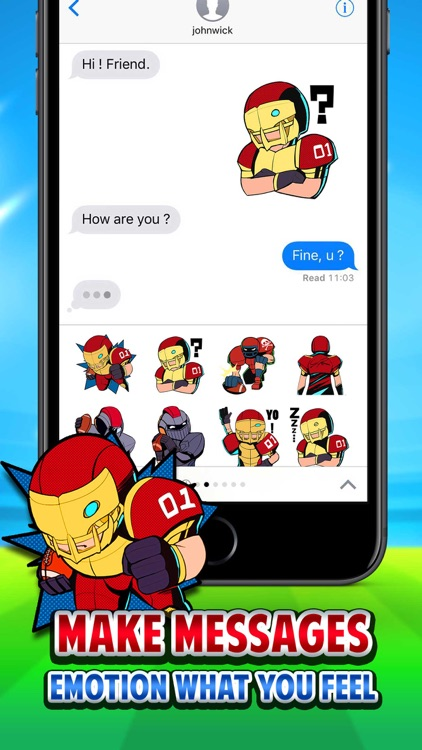 American football Sticker for iMessage