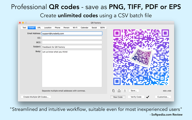 QR Factory - Pro Code Creator Screenshots