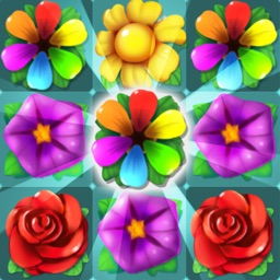 Flower Crush - Match 3 & Blast Garden to Bloom!