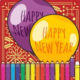 Happy New Year Coloring Games Painting for kids
