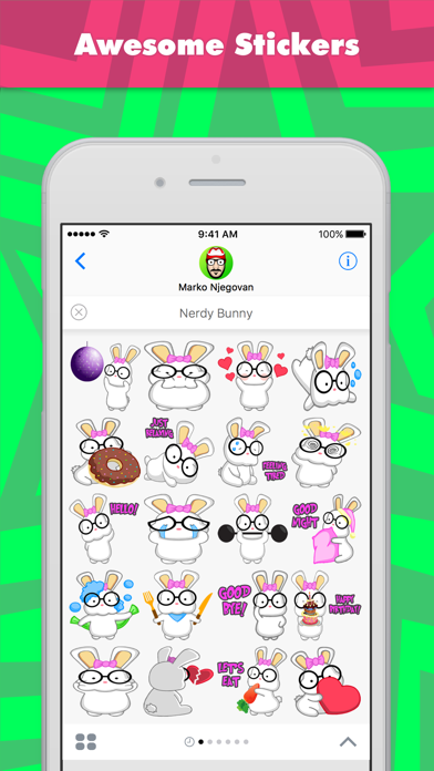 Nerdy Bunny stickers by CandyASS screenshot one