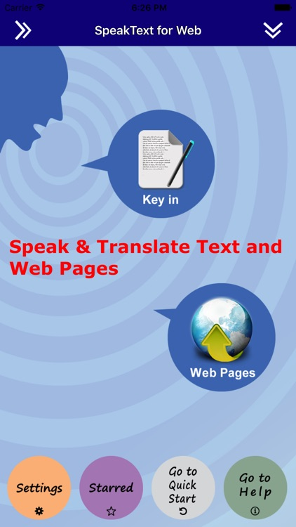 SpeakText for Web