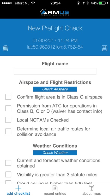 RMUS UAV Pilot PreFlight Compliance Checklist screenshot-1
