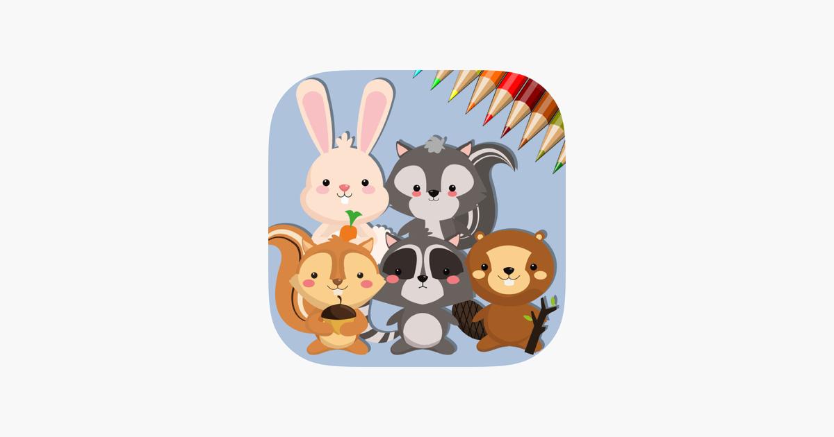 Sevimli Sincap Ve Tavşan Bana Göre Boyama Kitabı App Storeda