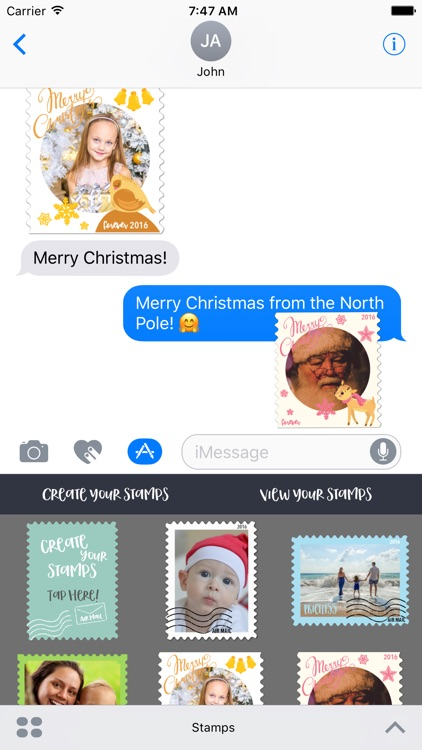 Postage Stamps for iMessage Stickers screenshot-0