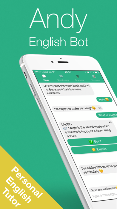 English with Andy - Chat&Learn by Andrey Pyankov (iOS, United States