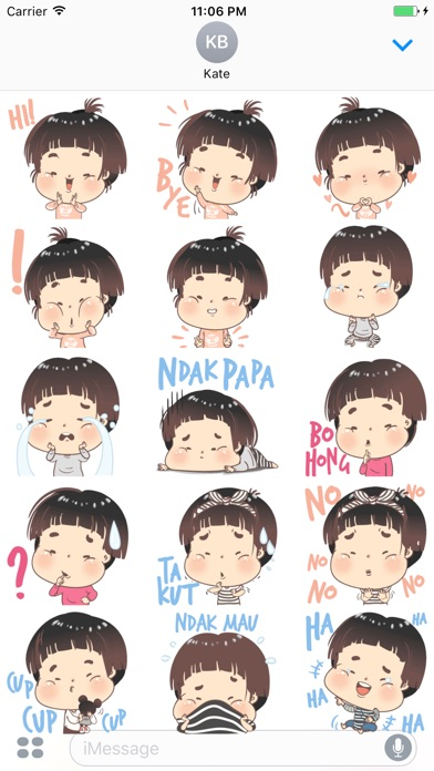 Little Baby Expression Stickers