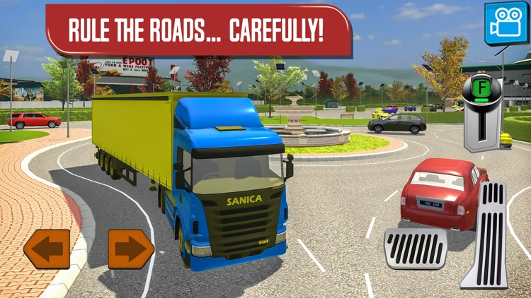 Delivery Truck Driver Highway Ride Simulator screenshot-3