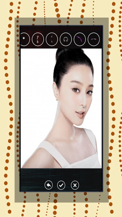 Girls Piercing-Virtual Pierced Designs Photo Booth