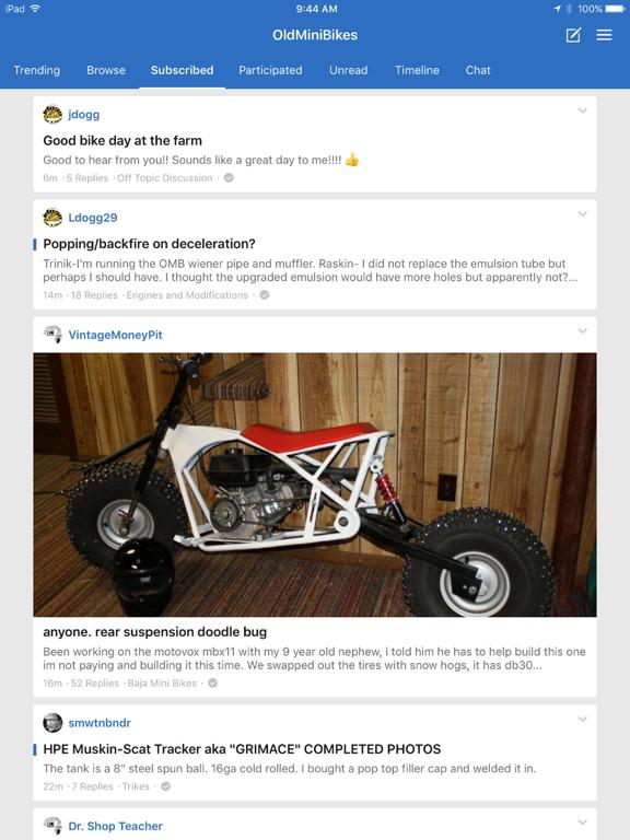 OldMiniBikes.com Forum screenshot 8