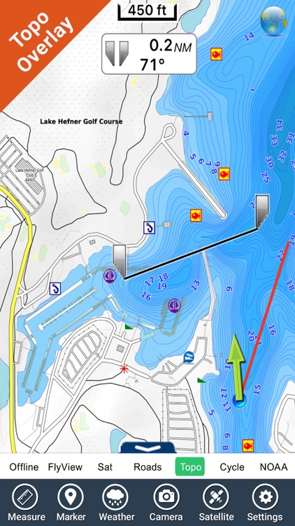 Oklahoma lakes - fishing GPS charts navigator screenshot-2