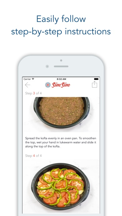 Screenshot for SimSim Middle Eastern Recipes in Lebanon App Store