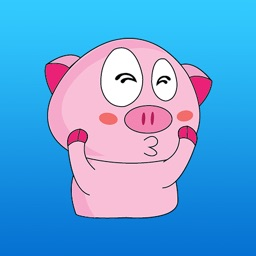 Cutest Funny Pig Sticker