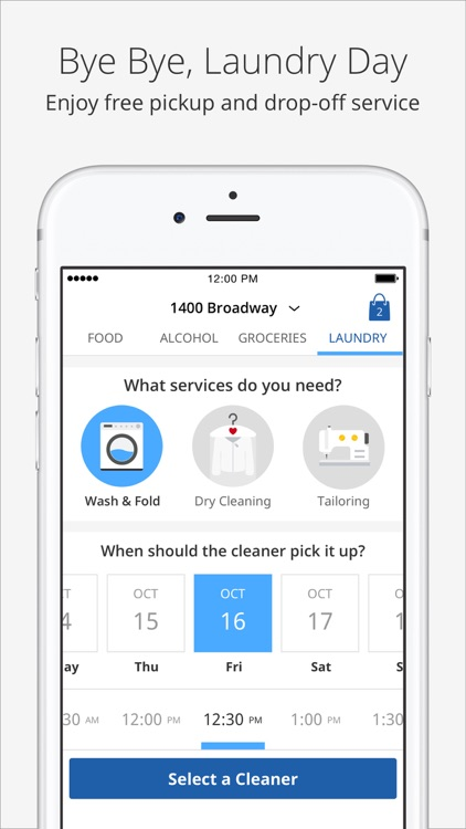 Delivery.com - Food, Alcohol, Groceries & Laundry screenshot-3