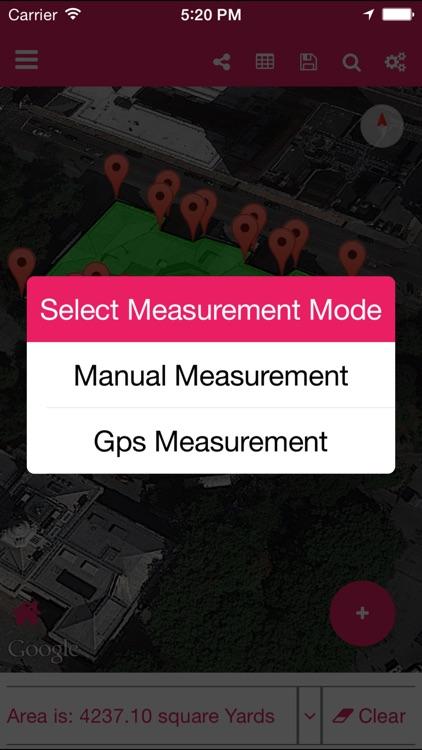 Geo Measure Area Calculator GPS Field Measurement