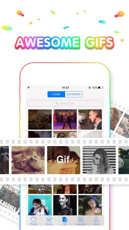 Rainbow Keyboard - Emojis, GIF, Wallpaper, Theme screenshot-3