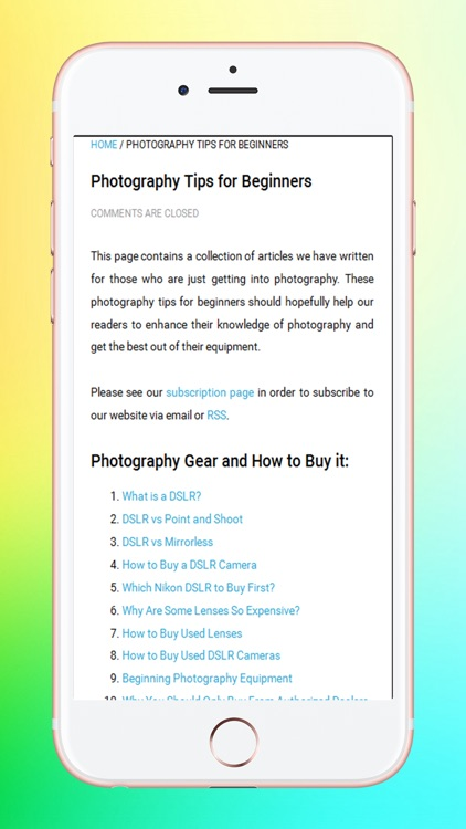 Basic Photography Learning - Let's Become PRO