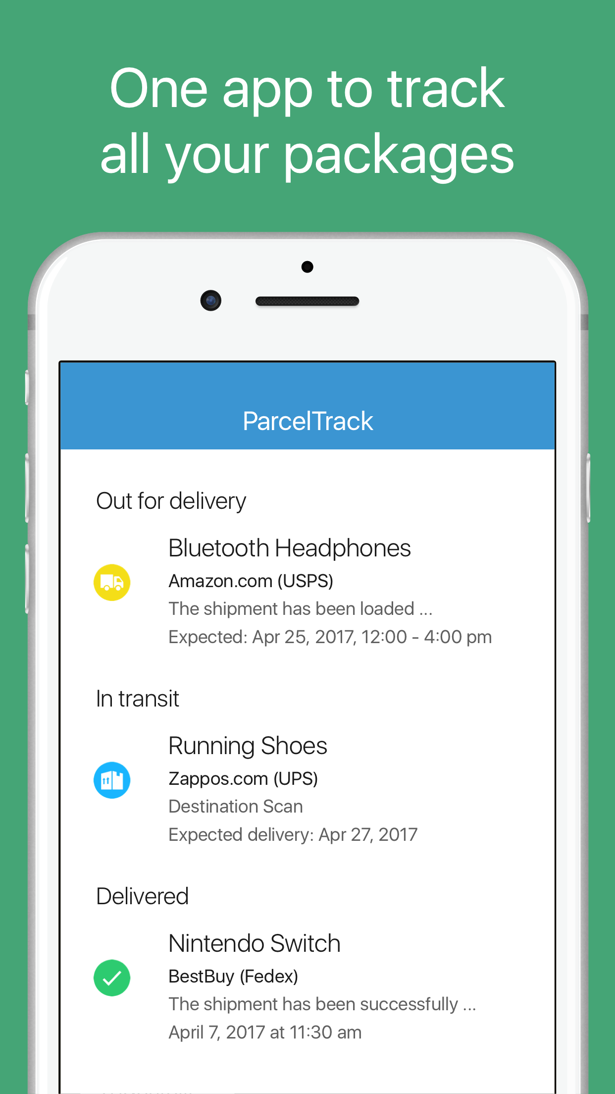 ParcelTrack - Package Tracker Screenshot