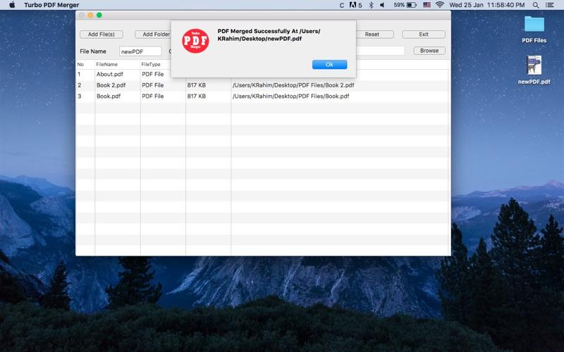 Turbo PDF Merger Screenshot - 4