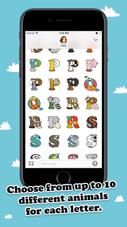 Alphabetimals Stickers screenshot-3