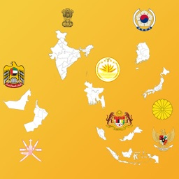Asian Country's Province Maps, Flags, Info