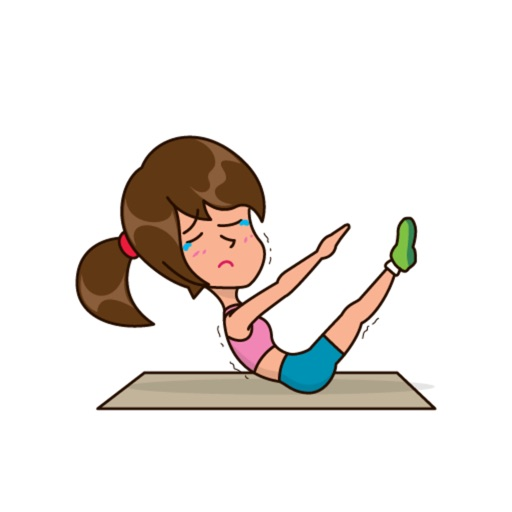 Workout Girl Stickers Pack Text Message