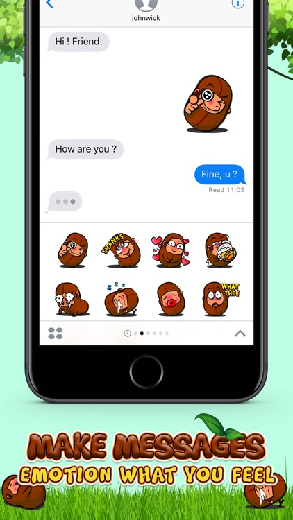 Bean Boy Stickers for iMessage Free