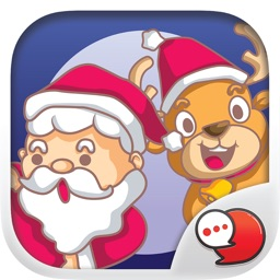 Happy Santa Stickers Emoji Keyboard By ChatStick